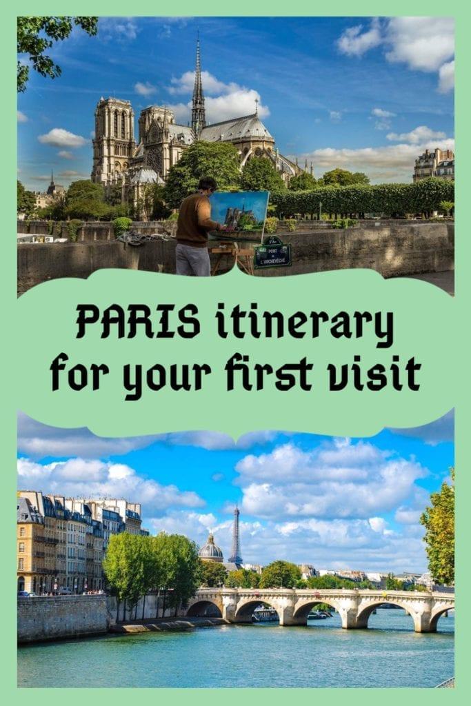Three Days in Paris Itinerary PIN