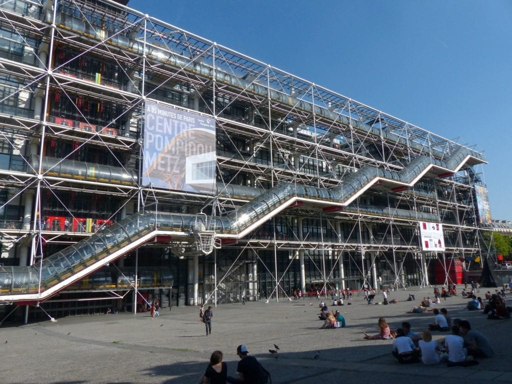 Centre Pompidou and the large open area in front are always very lively - three days in Paris itinerary