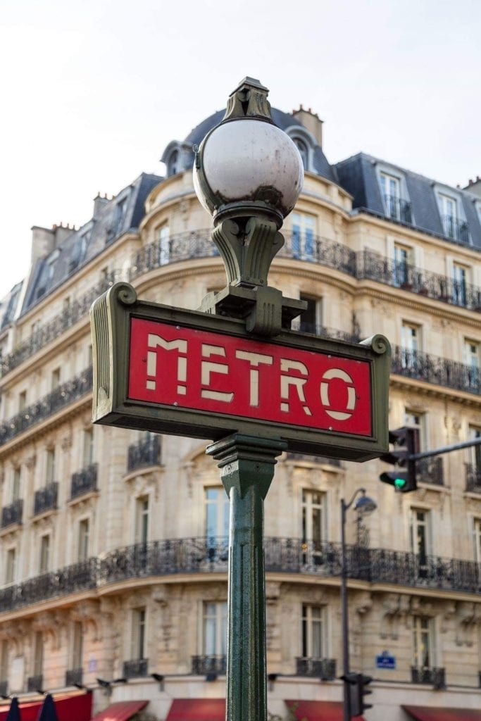 Three days in Paris itinerary - you might want to skip using the metro
