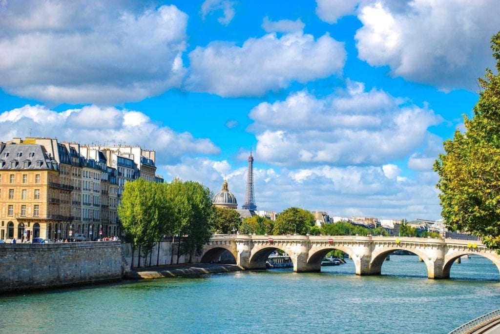 Three days in Paris itinerary - EIffel Tower with Pont des Arts