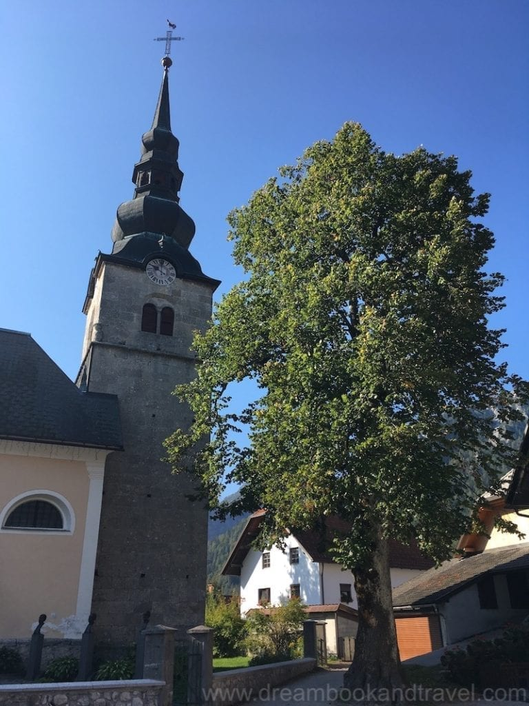 The Alpine village Kranjska Gora in the Slovenian mountains has a charming center
