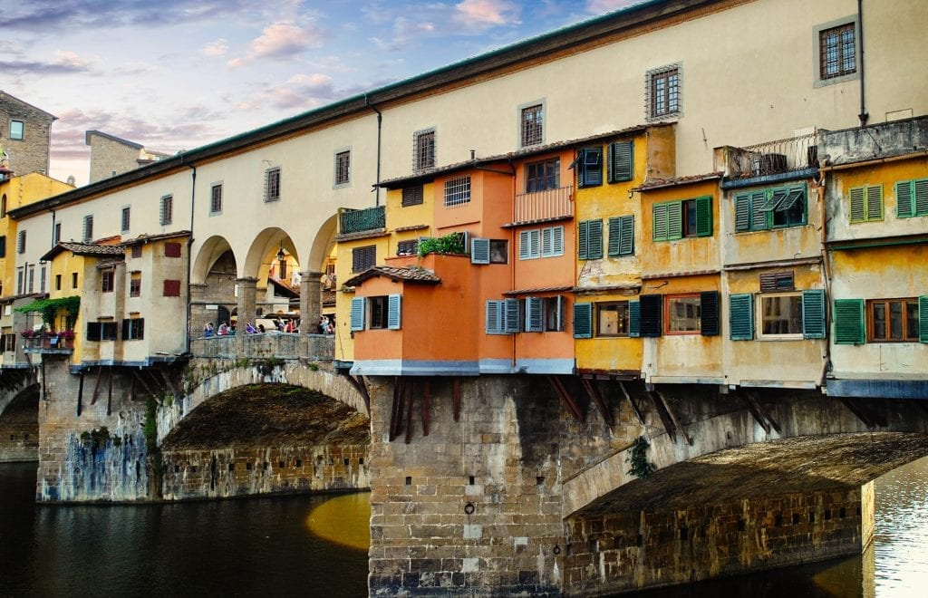 Driving in Tuscany - start by spending three days in Florece, Ponte Vecchio,  Italy