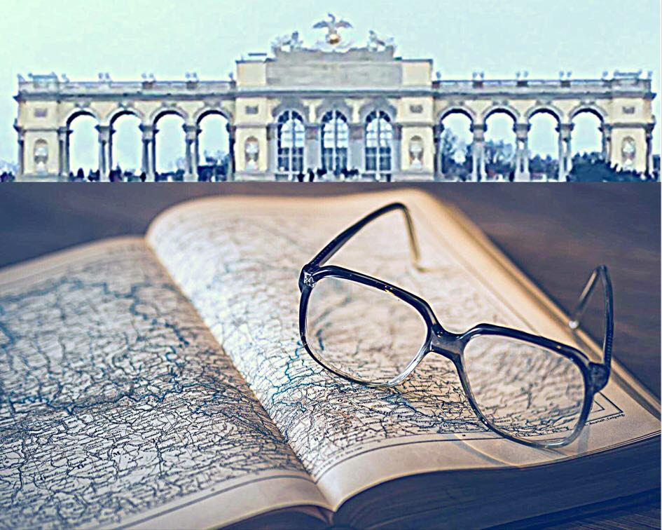 Reading in Vienna, Schonbrunn, Gloriette, Vienna in January