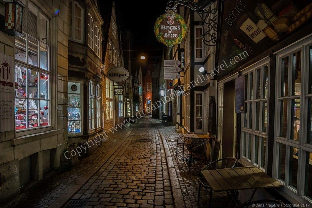 The famous Beck's in'n Snoor restaurant, Bremen, Germany