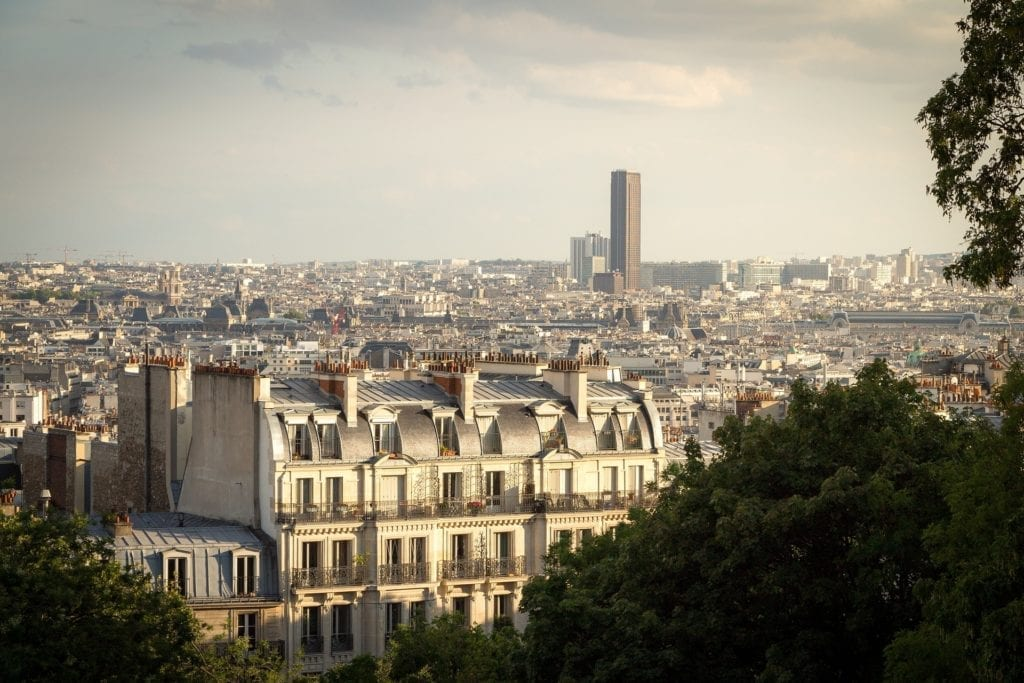 Three days in Paris itinerary - off the beaten path - La Tour Montparnasse is visible from afar, a landmark on the Parisian sky