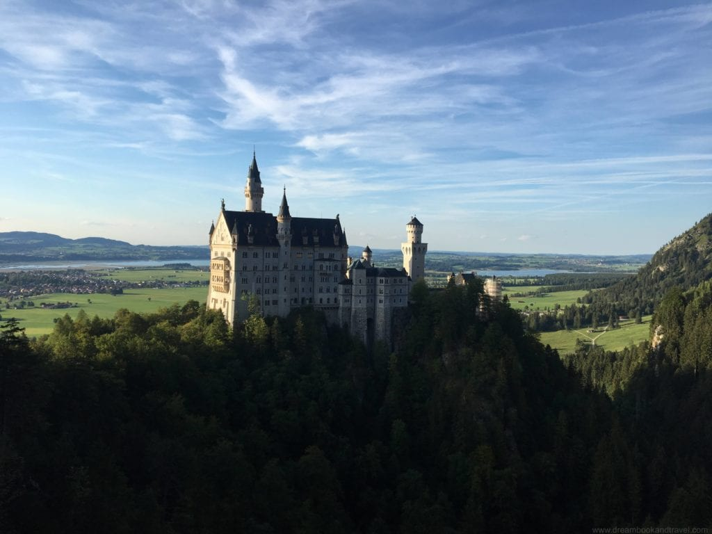 The fairytale Schloss Neuschwanstein is the first stop on the way from Munich to Austria
