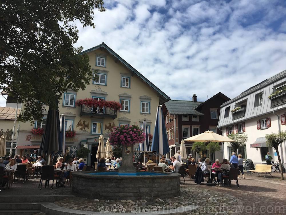 Fountain in German market town