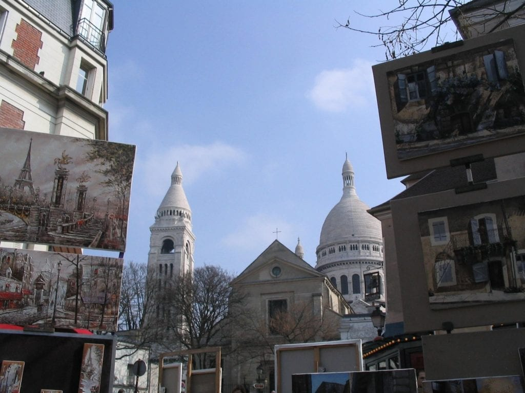 Montmartre at its best - Place du Tertre - exploring this neighborhood is a must for a three days in Paris itinerary