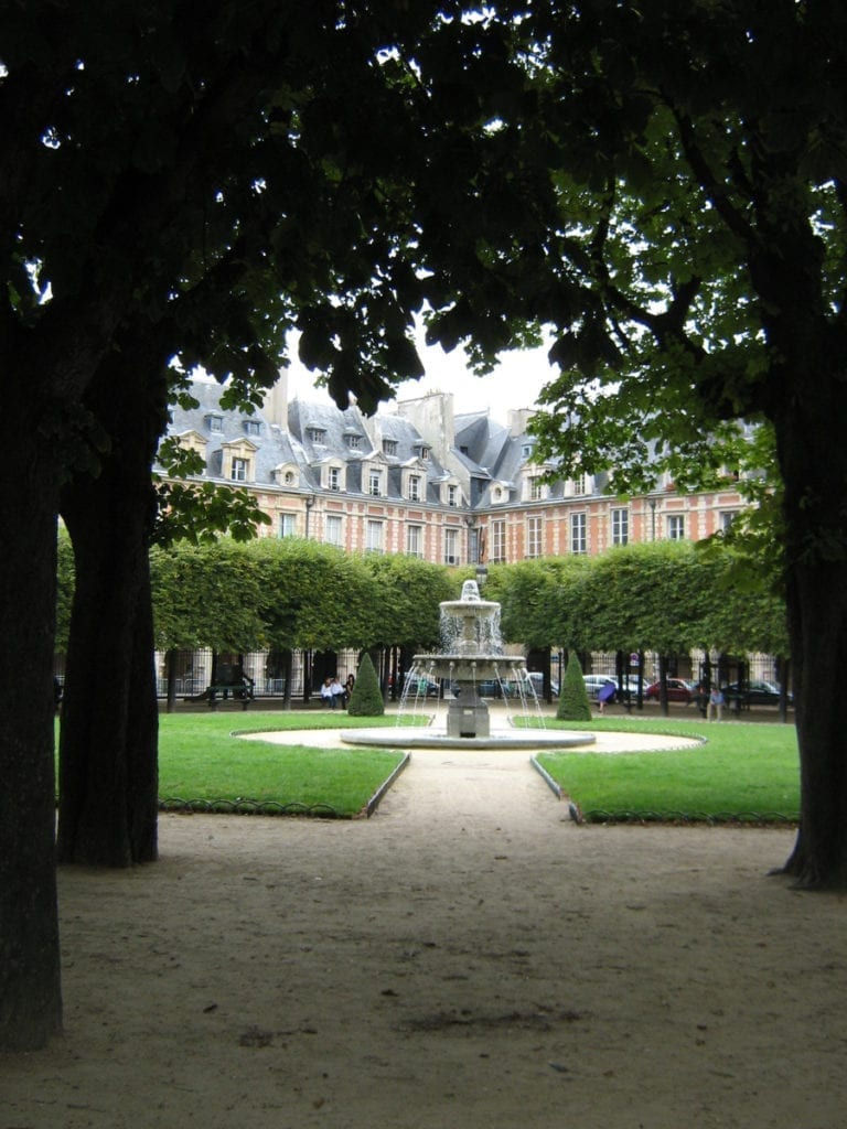 Place des Vosges, Marais - a worthy last stop on your three days in Paris itinerary