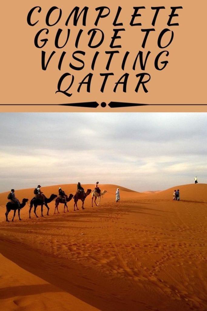 Qatar itinerary pin