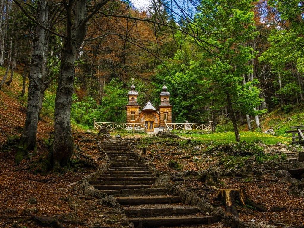 The Russian chapel on the Vršič pass
