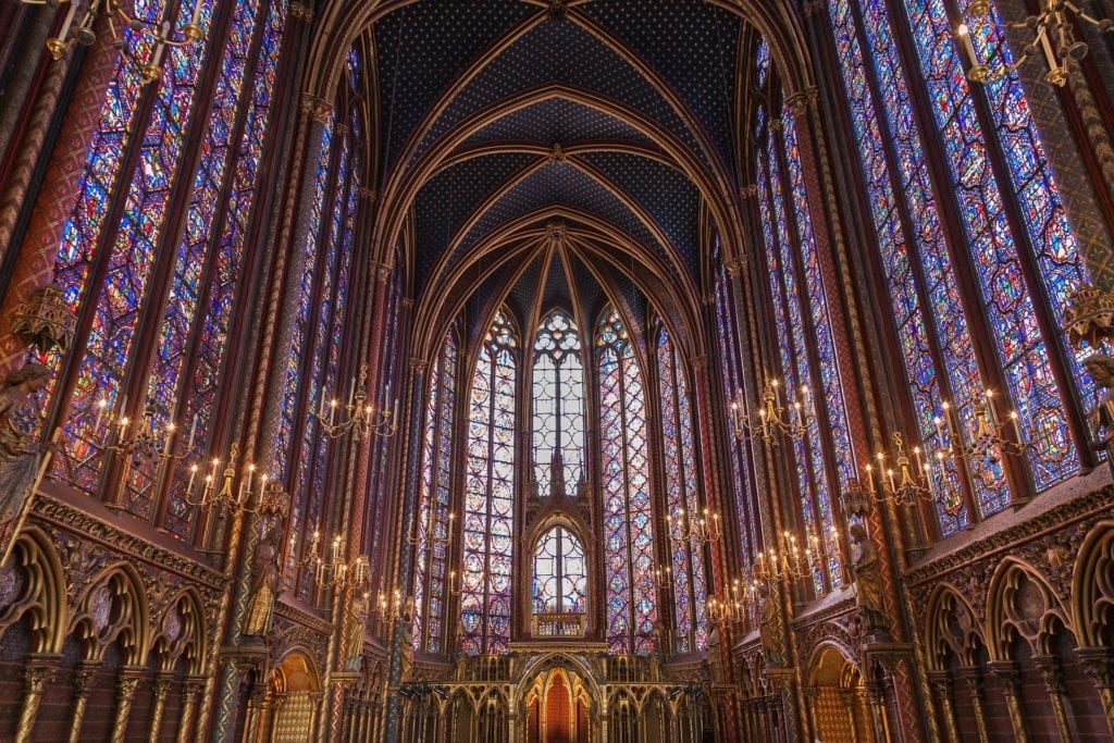 Probably the most beautiful stained glass in the world - La Sainte Chapelle - Paris - three days in Paris itinerary