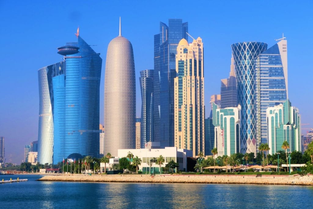 Qatar itinerary - the iconic skyline of the capital Doha