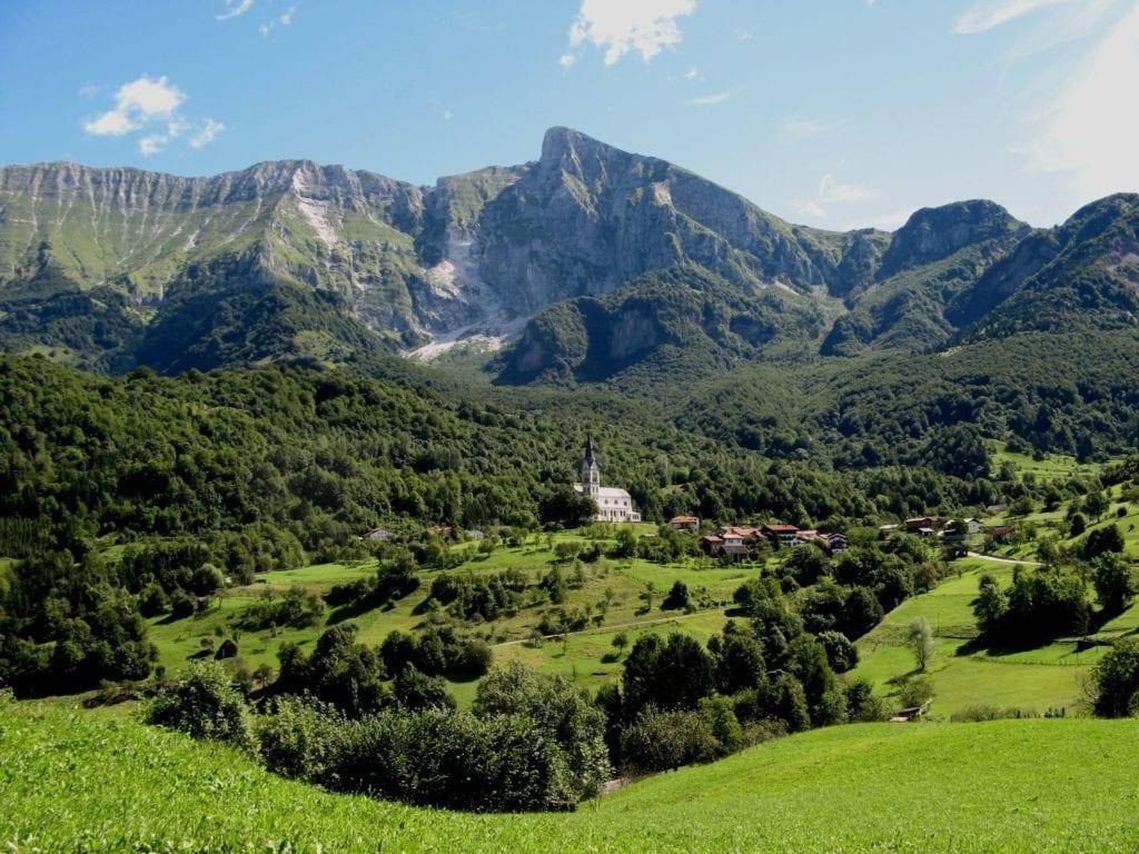 Slovenian mountain landscape