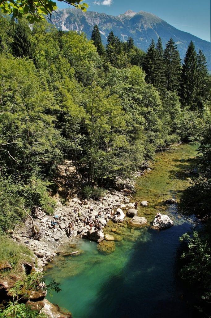 Vintgar gorge, Slovenian mountains