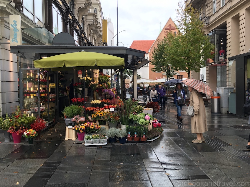 autumn in Vienna - florists in Vienna on a rainy autumn day