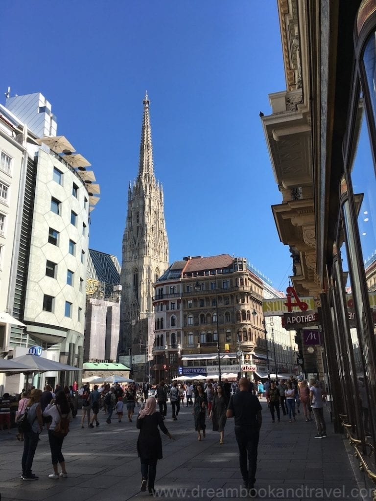 View of the St Stephen Cathedral, the beating heart of Vienna