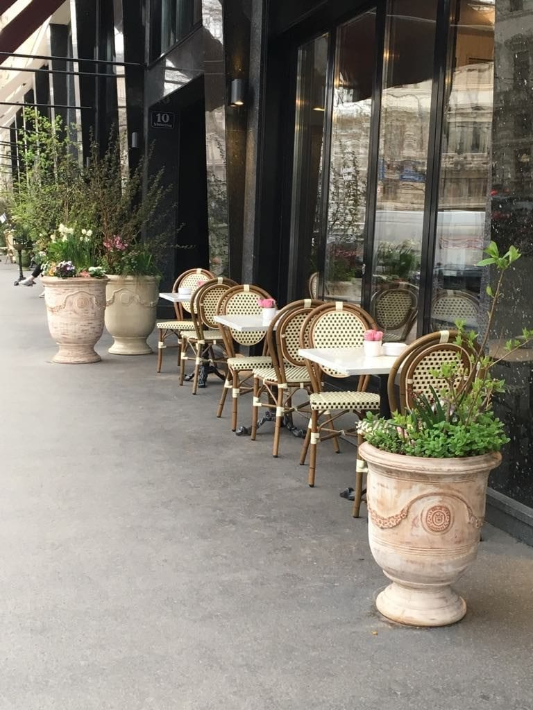 Springtime - early outside seating makes this the best time to visit Vienna, Austria