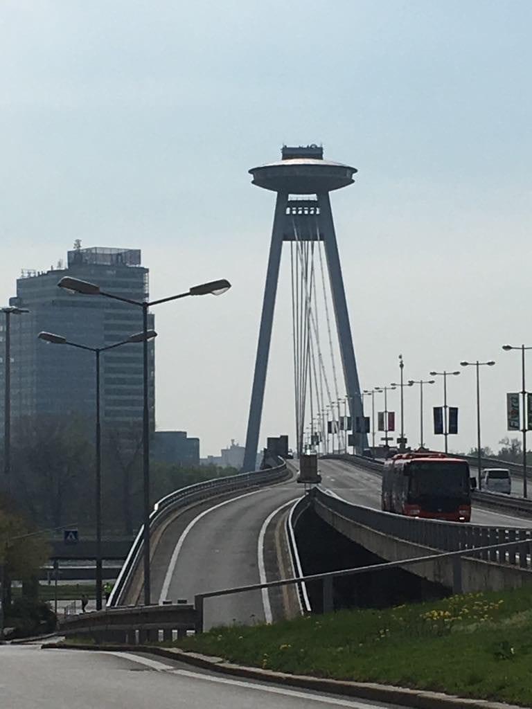 UFO tower and bridge - Bratislava, Slovakia