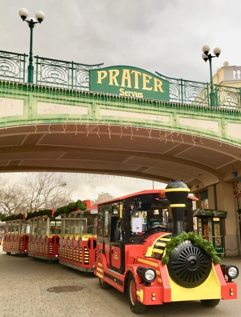 Best time to visit Vienna - the Prater reopens its doors in spring! train, Prater, Austria