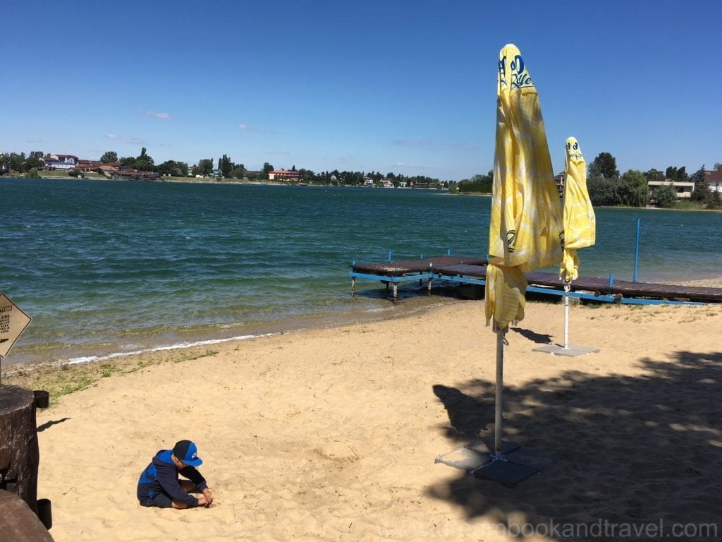 Sand beach at the Sunny Lakes in Senec, Slovakia - day trips from Bratislava.