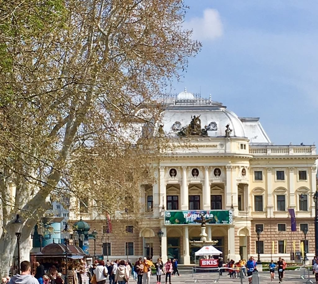 Promenade in front of the Slovak National Theater - a common rendez-vous place