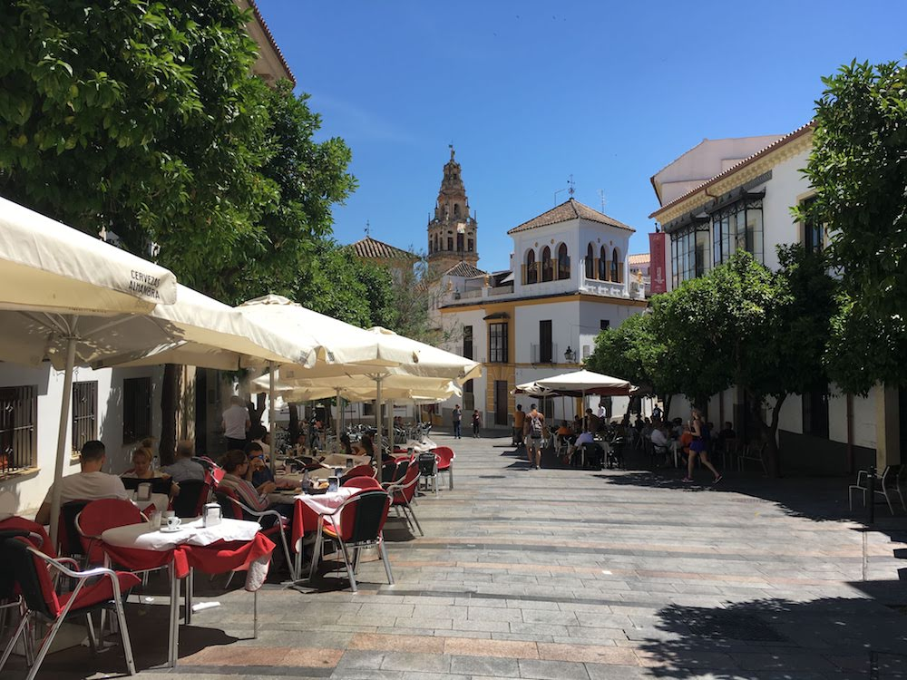 A typical plaza in Cordoba.