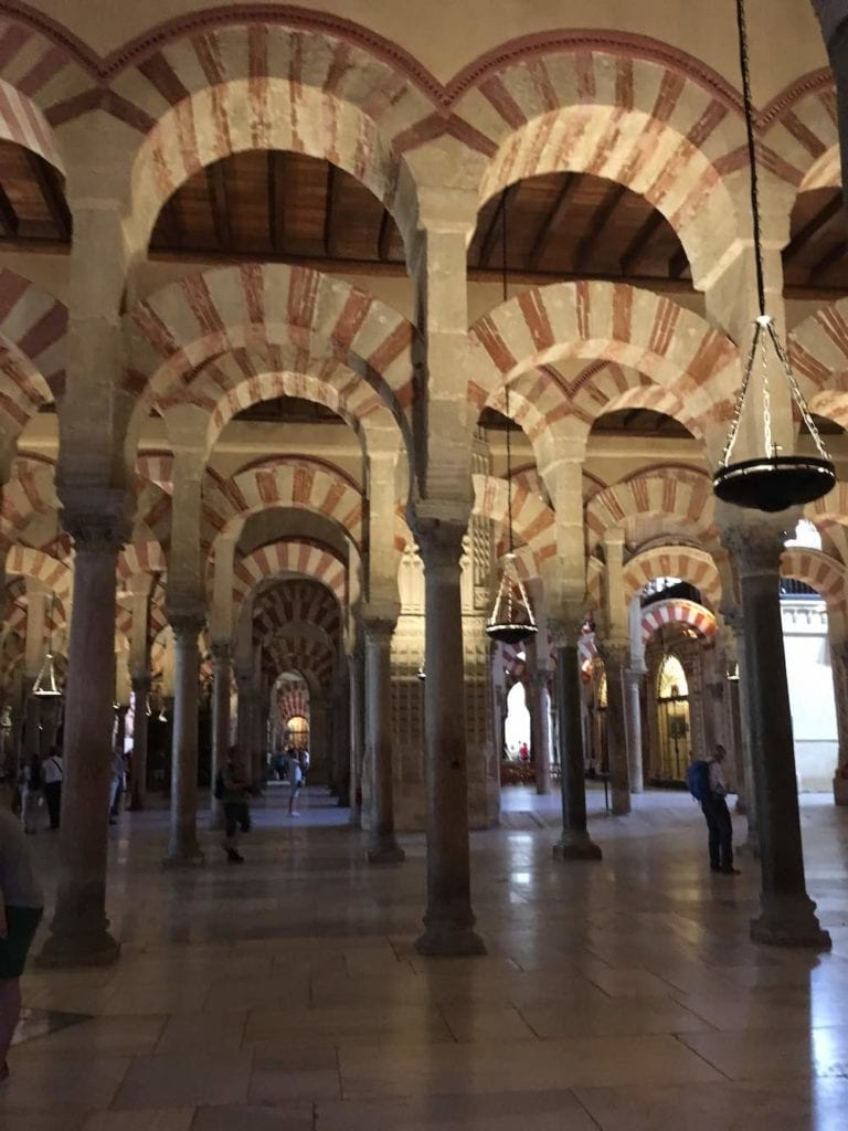 Inside/interior of the Grand Mosque of Cordoba.