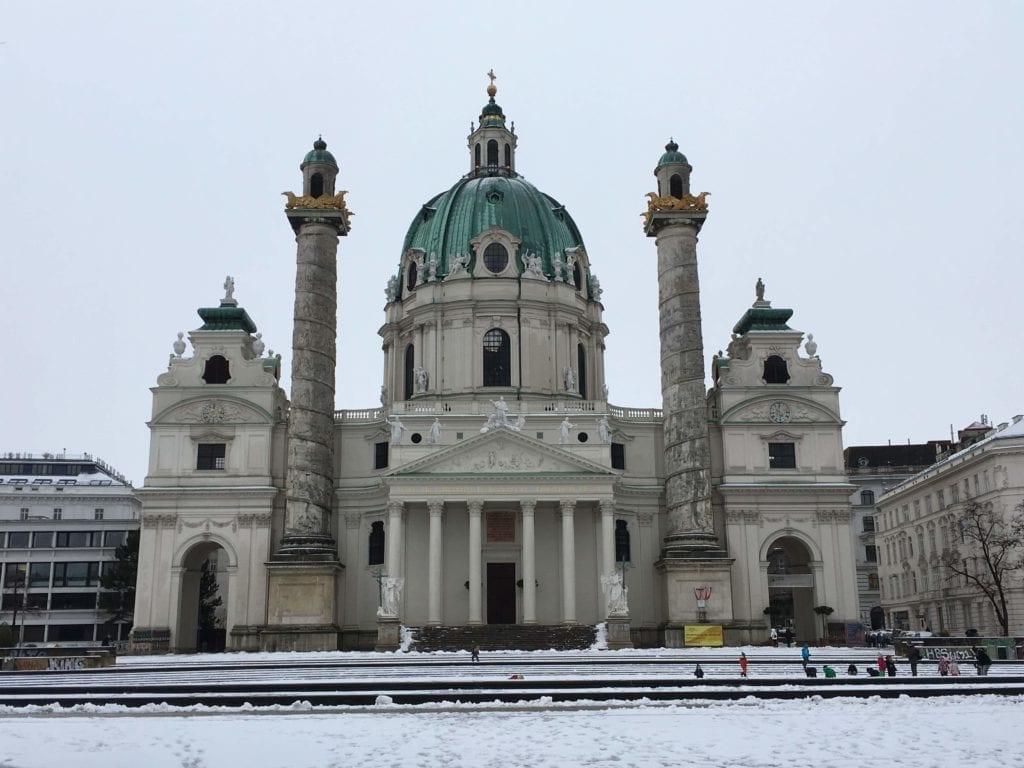 Karlskirche in Vienna in January
