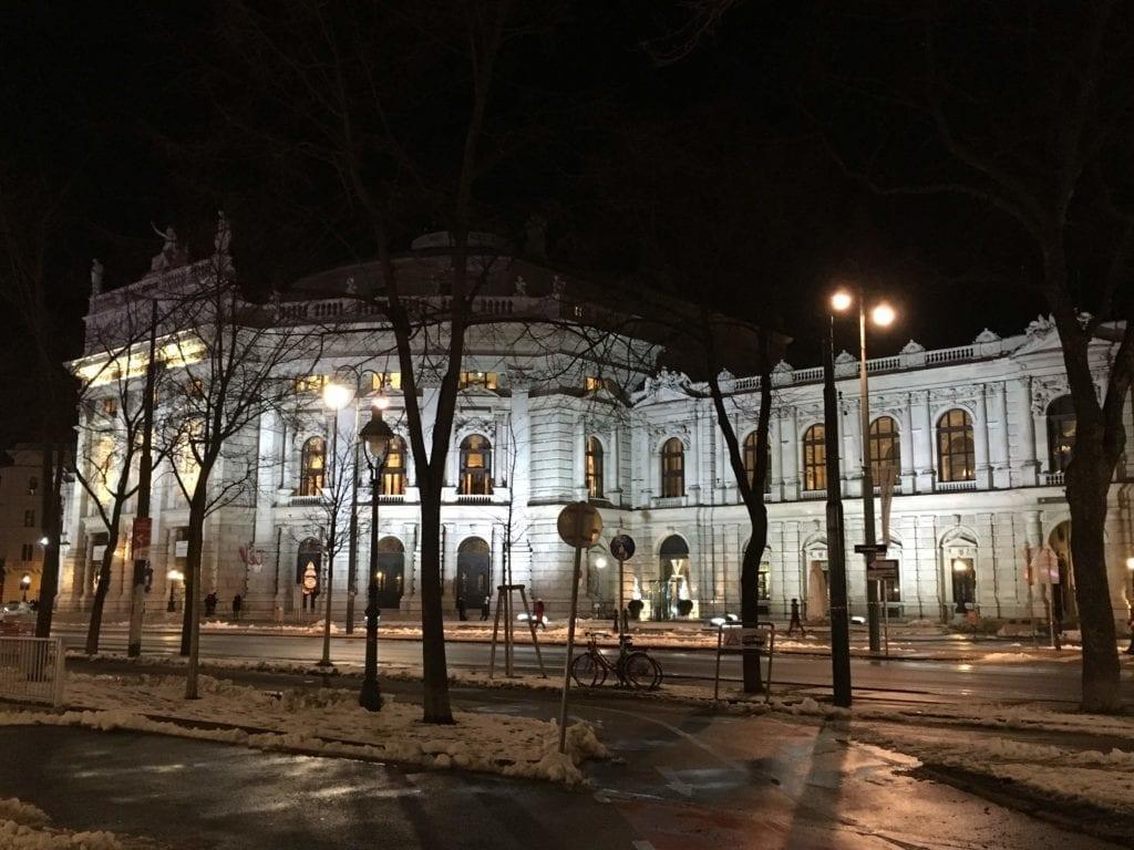 Burgtheater in Vienna in January