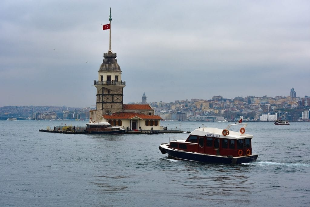 Maiden's Tower, Leander's Tower, Istanbul, Turkey