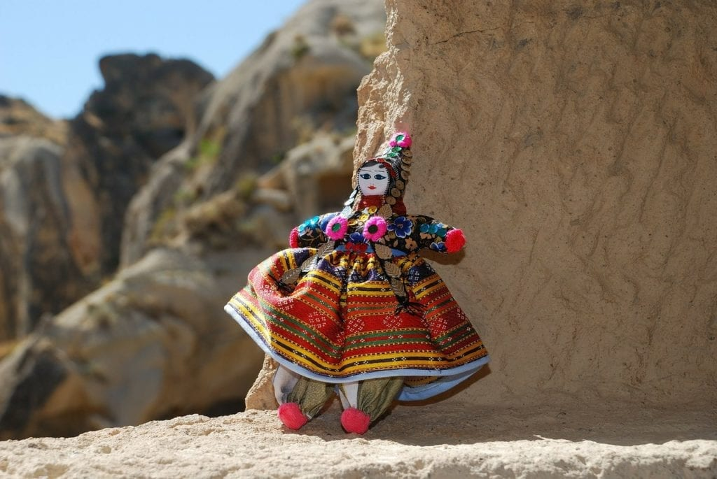 Doll wearing a Turkish traditional folk costume