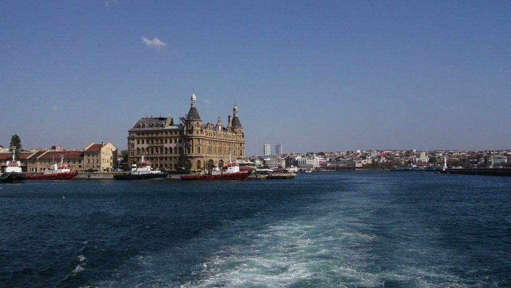 Haydarpasa train station in Istanbul, Turkey in winter