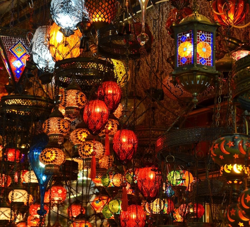 Turkish lamps at the Grand Bazaar, Istanbul, Turkey