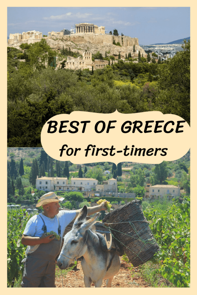 PIN IT! Beginner's guide to Greece! Where to go in Greece for first-timers, a local's mini-guide!