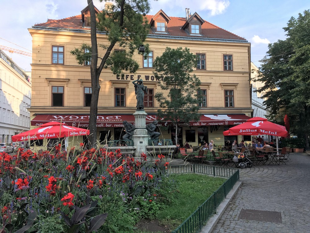 Where to stay in Vienna -Cafe Wortner in the 5th district (Margareten).