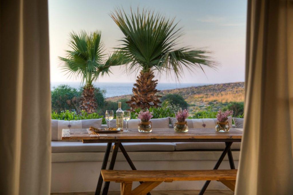 Minois Village Suites and Spa Paros island veranda - best Greece destinations