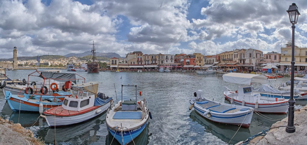 Rethymnon harbor - one of the alternative Greece destinations for couples