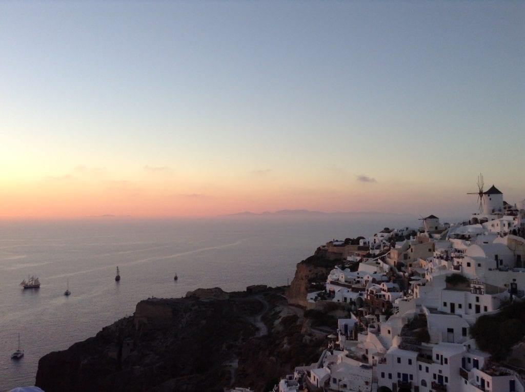 An amazing Santorini sunset