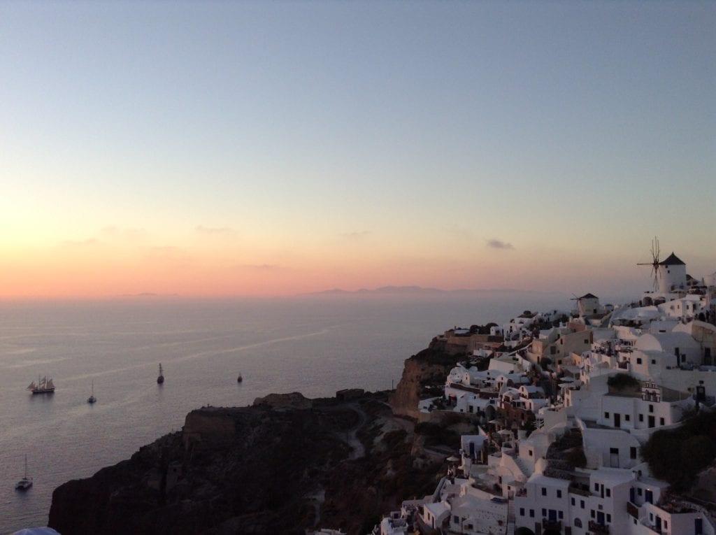 An amazing Santorini sunset