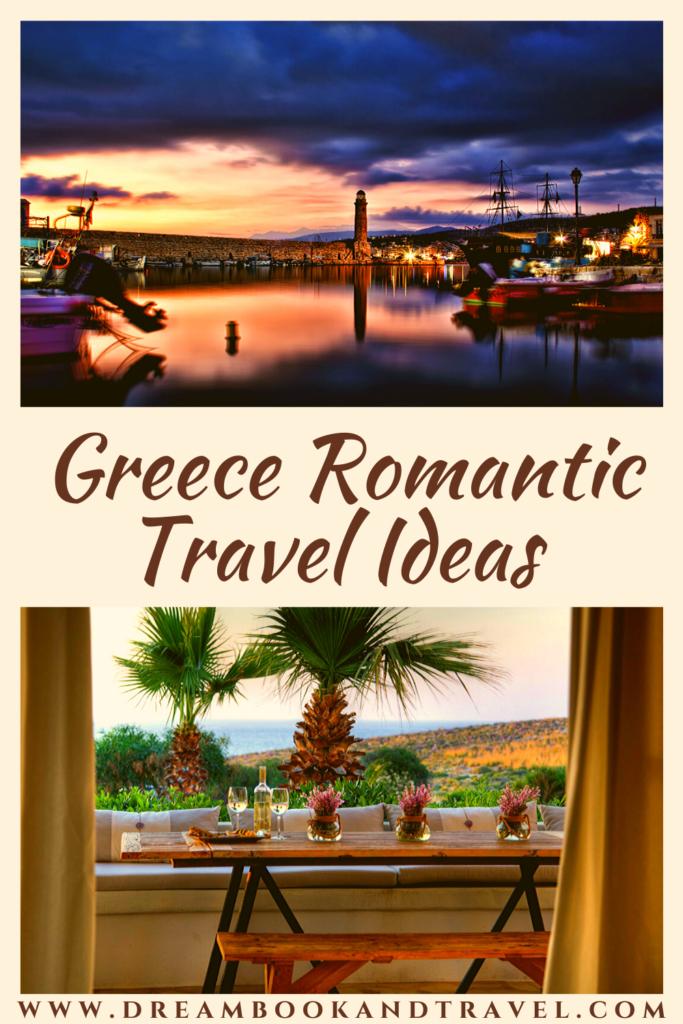 Greece destinations romantic pin