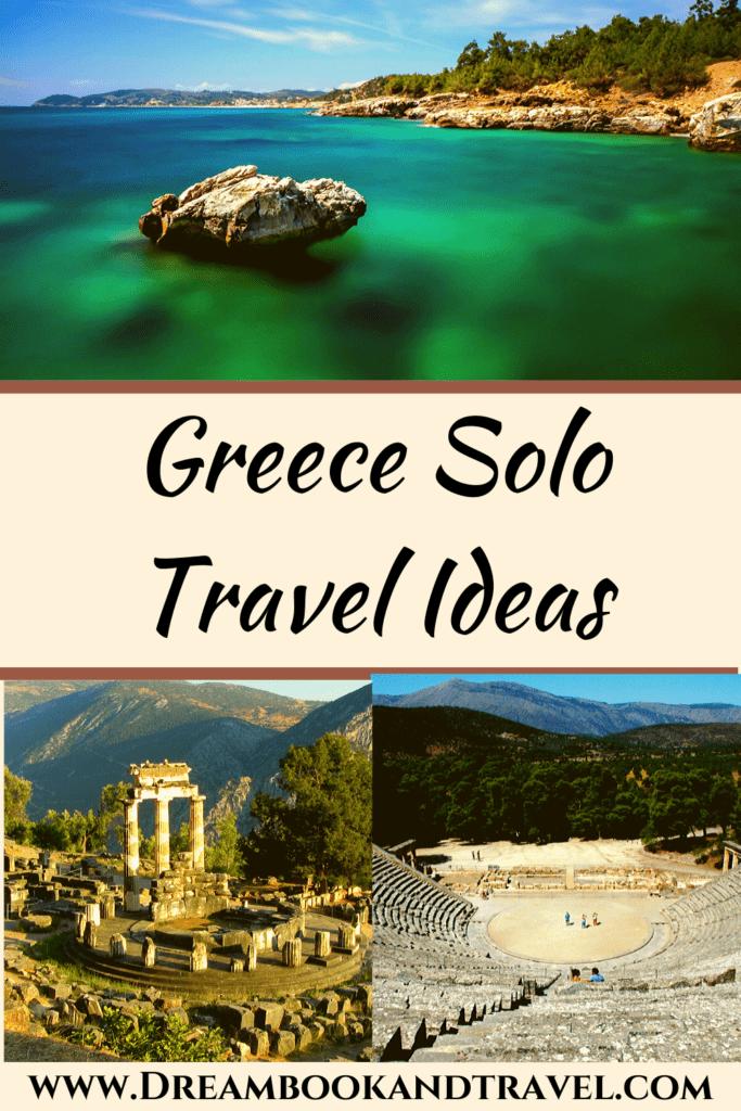 Greece destinations solo travelers pin