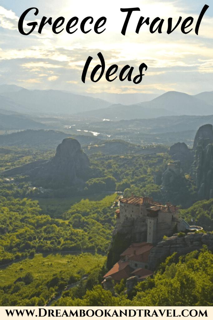 Greece destinations - pin
