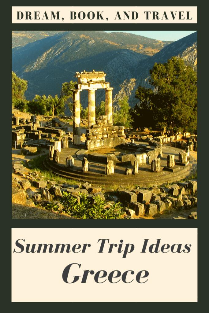 Greece destinations - summer pin