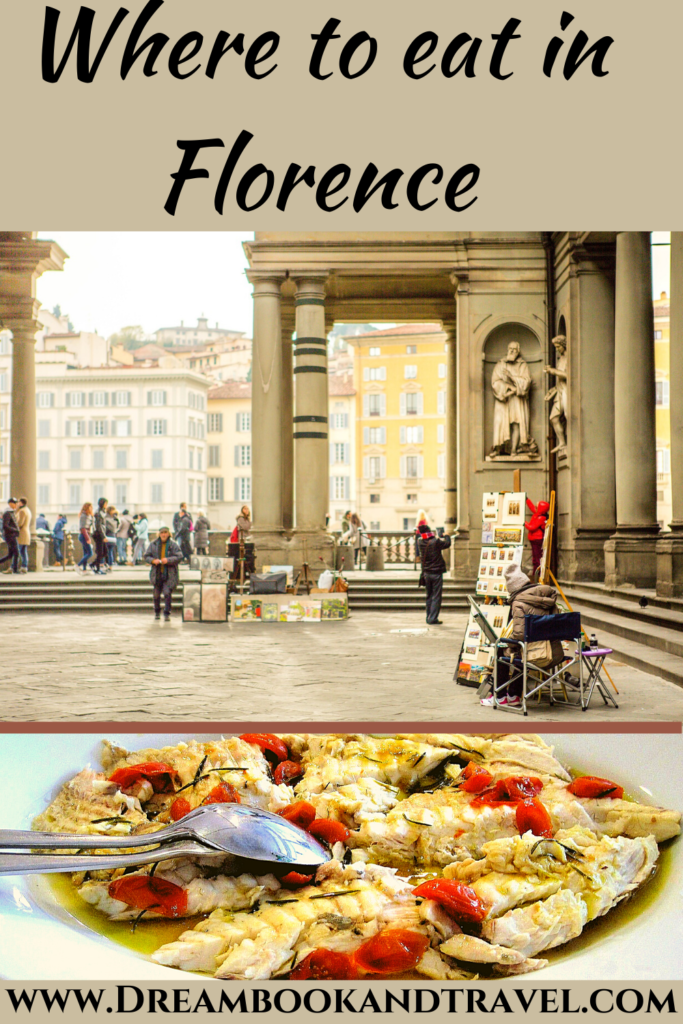 A complete foodies' guide to where to eat in Florence, from breakfast to elegant dining, gelato, and historical locations. Authentic markets, friendly waiters, mouth-watering dishes! #Florence #Italy #Toscana #foodies #travelyourway