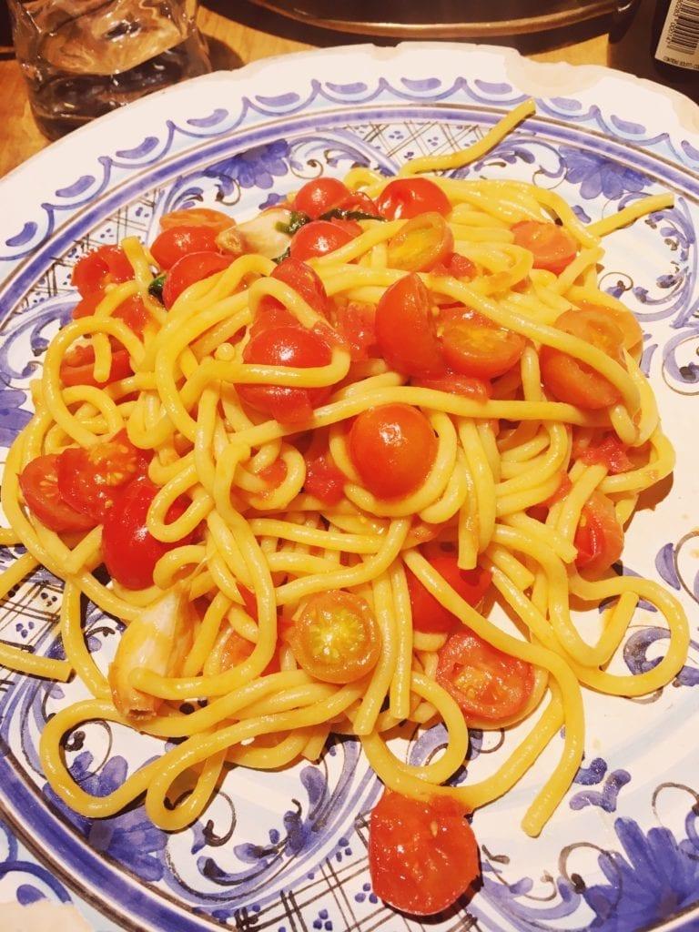 Where to eat in Florence - Osteria Santo Spirito pasta dishes pomodoro