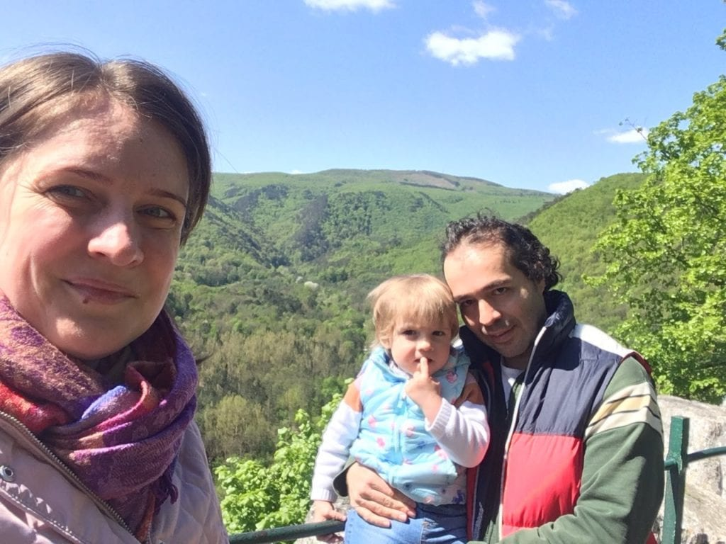 Family quality time - hiking in the Vienna Woods has turned into a weekly tradition over the past few months.