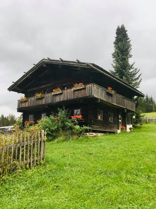 Austria summer holiday - farmhouse on top of the world