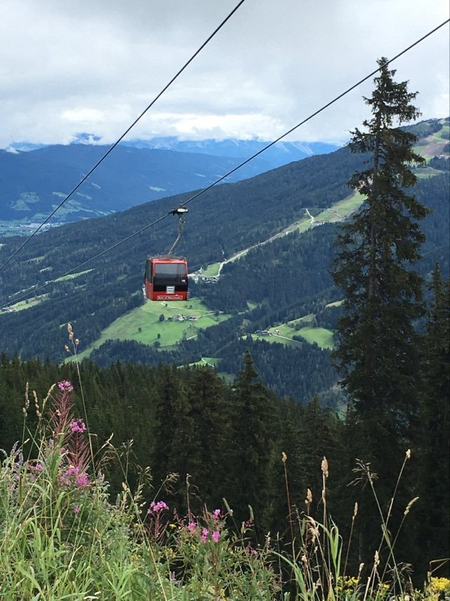 Our Austria Summer Holiday - a fantastic ride with the gondola from Wagrain