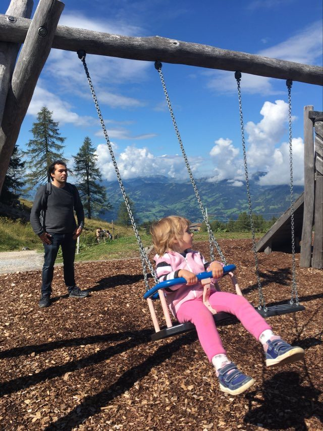Austria summer holiday - swinging on top of the world in the company of friendly ghosts @Geisterberg Adventure Park